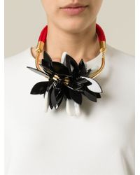 Marni | Multicolor Floral Necklace | Lyst