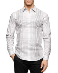 Calvin Klein | White Patterned Sportshirt for Men | Lyst