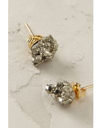 Anthropologie - Metallic Crystalline Post Earrings - Lyst