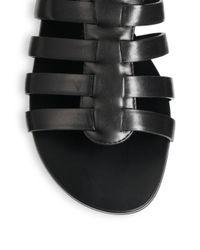 Giuseppe Zanotti | Black Leather Gladiator Sandals | Lyst