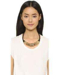 Sam Edelman - Metallic Disco Collar Necklace - Gold - Lyst