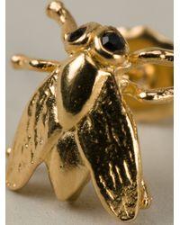 Tom Binns - Metallic Fly Stud Earrings - Lyst