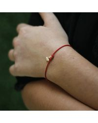 Shamballa Jewels - Red Diamond Star Bracelet - Lyst