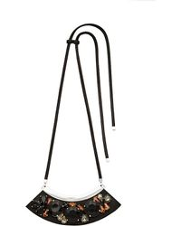 Marni - Black Strass Glass-cabochon Necklace - Lyst