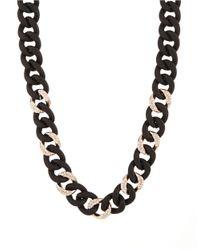 ABS By Allen Schwartz | Black Chain-link Collar Necklace | Lyst