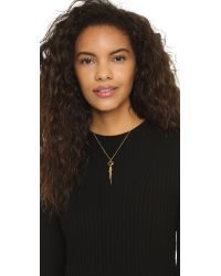 Chan Luu - Metallic Chain Fringe Pendant Necklace - Lyst