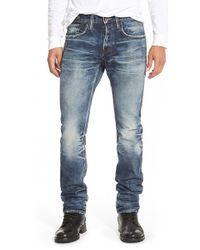 PRPS - Blue 'demon - Noir Porrima' Slim Straight Leg Jeans for Men - Lyst