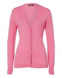 Basler - Pink Finely Knitted Jacket With Silk - Lyst