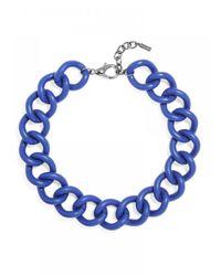 BaubleBar | Blue Rolo Chain Collar-cobalt | Lyst