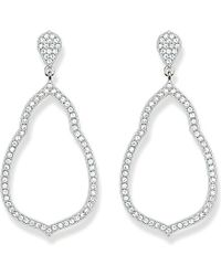Thomas Sabo | Metallic Fatima's Garden Sterling Silver And White Pavé Zirconia Drop Earrings | Lyst