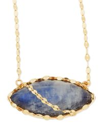 Lana Jewelry | Blue 14k Mesmerize Marquise Onyx/moonstone Necklace | Lyst