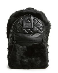 Marc By Marc Jacobs | Black 'domo Biker' Genuine Shearling Backpack | Lyst