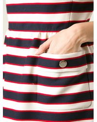 Valentino | Blue Striped Shift Dress | Lyst