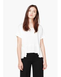 Mango | White Soft Fabric Blouse | Lyst