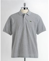 Lacoste | Gray Short-sleeved Polo Shirt for Men | Lyst