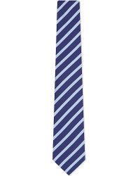 Eton of Sweden | Blue Two-tone Herringbone Stripe Silk Tie, Men's, Navy for Men | Lyst