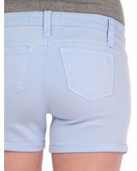 Tractr | Blue Basic Mini Roll Short | Lyst