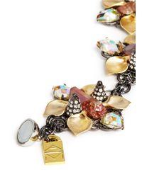 Assad Mounser - Multicolor Stone Crystal Orchid Link Bracelet - Lyst