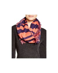 Aqua - Blue Graphic Print Loop Scarf - Lyst