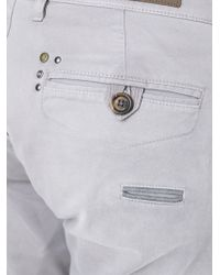 Eleventy Gray Chino Cargo Trousers for men