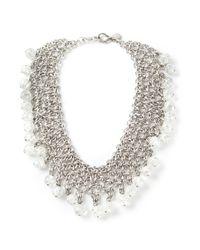 Paco Rabanne - Metallic Couture Festoon Necklace - Lyst
