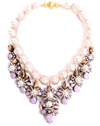 Shourouk | Multicolor Theresa Crystal Pearl and Enamel Beaded Necklace | Lyst