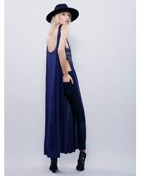 Free People | Blue Womens Mias Maxi Tank | Lyst