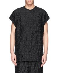 3.1 Phillip Lim - Black Quilted Silk T-Shirt for Men - Lyst