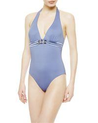 La Perla   Blue Underwired Swimsuit   Lyst