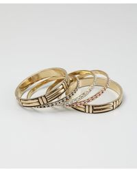 Chamak by Priya Kakkar - Metallic Set Of 5 - Gold, Black And Red Enamel And Crystal Bangles - Lyst