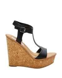 Steve Madden | Black Iluvit Wedge Sandals | Lyst