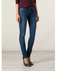 Burberry Brit - Blue Skinny Jeans - Lyst