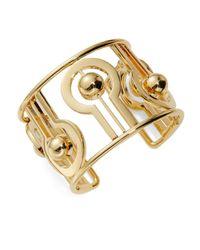 Trina Turk | Metallic Goldtone Ball Cuff Bracelet | Lyst