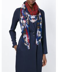 Armani Jeans | Green Mixed Print Scarf | Lyst