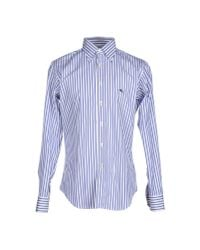 Etro | Blue Shirt for Men | Lyst