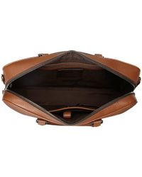 Michael Kors | Brown Bryant Pebble Leather Large Briefcase for Men | Lyst