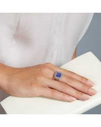 Rings Dress Rings - Gray Mini Connie Tanzanite Ring - Lyst