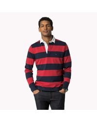 Tommy Hilfiger | Blue Block Striped Rugby for Men | Lyst