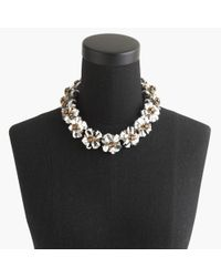 J.Crew | Metallic Embellished Cord Necklace | Lyst