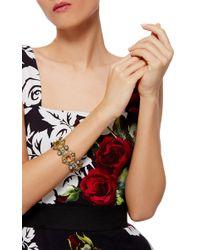 Simon Teakle | Multicolor Antique Viennese Gold And Gemstone Bracelet | Lyst