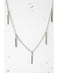 Forever 21 - Metallic Chain Tassel Necklace - Lyst
