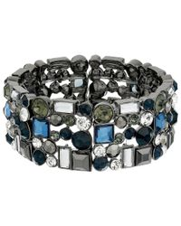 Guess | Blue Clustered Stone Stretch Bracelet | Lyst