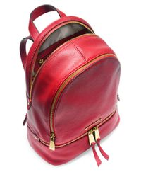 MICHAEL Michael Kors - Red Rhea Small Leather Backpack - Lyst