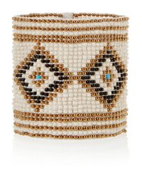 Saint Laurent - Natural Beaded Bracelet - Lyst