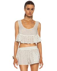 Chloé | White Crop Cotton Top | Lyst