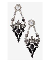 Express - Black Mixed Rhinestone Chandelier Earrings - Lyst