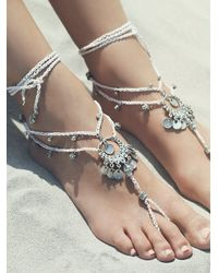 Free People | Metallic Womens Macrame Anklet Duo | Lyst