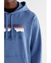 Patagonia | Blue Logo Hooded Sweatshirt for Men | Lyst