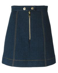 Sonia Rykiel - Blue Denim Effect Skirt - Lyst