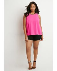 Forever 21 - Purple Plus Size Tulip-back Top - Lyst